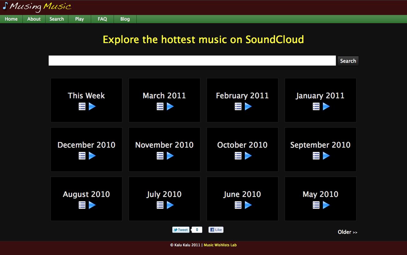 Musing Music - Homepage
