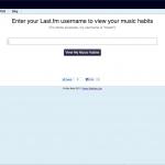 My Music Habits - Homepage